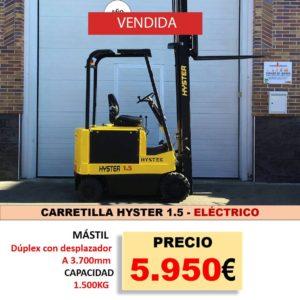 CARRETILLA HYSTER 1,5 EUROPA ELEVACION