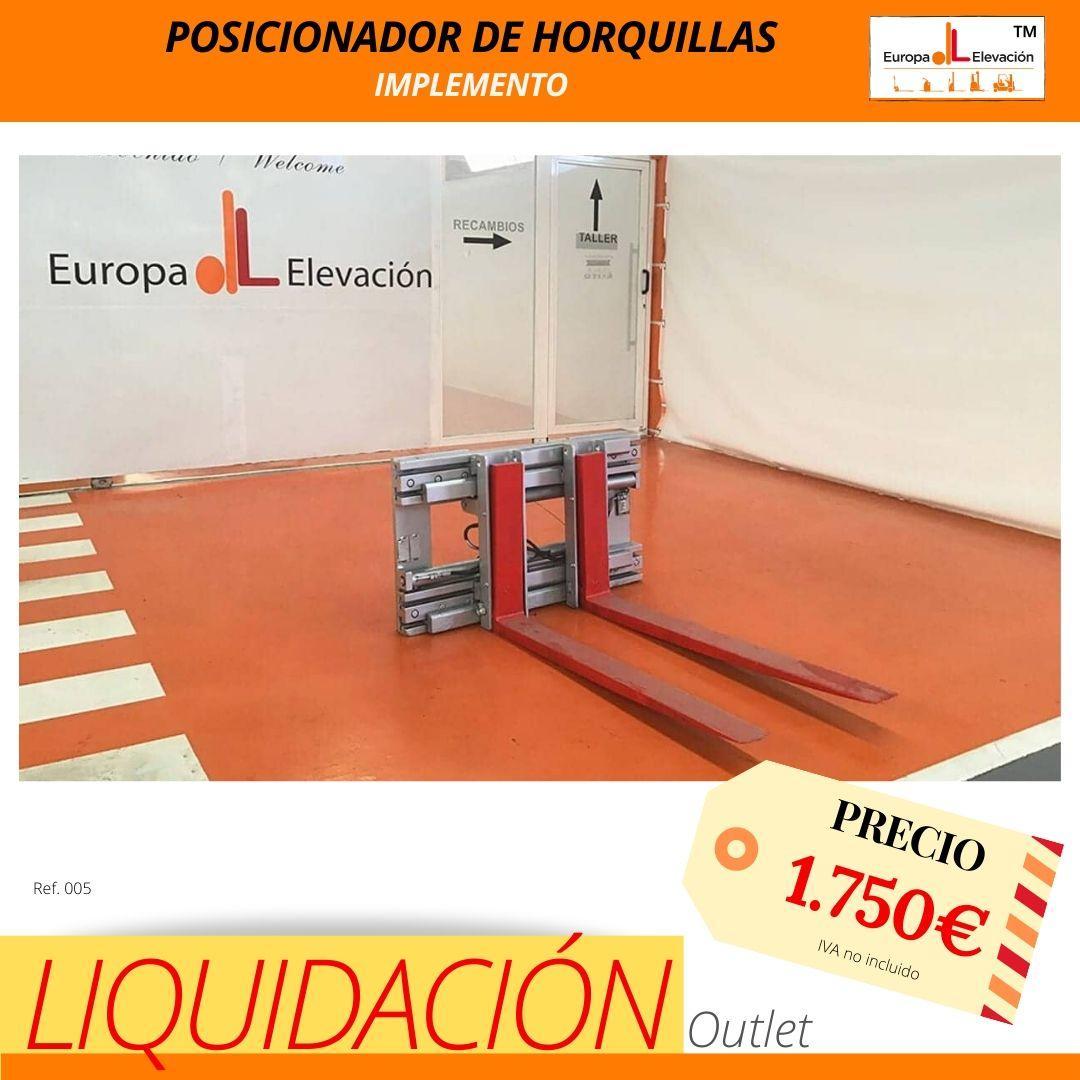 005 implementos posicionador de horquillas Europa Elevación