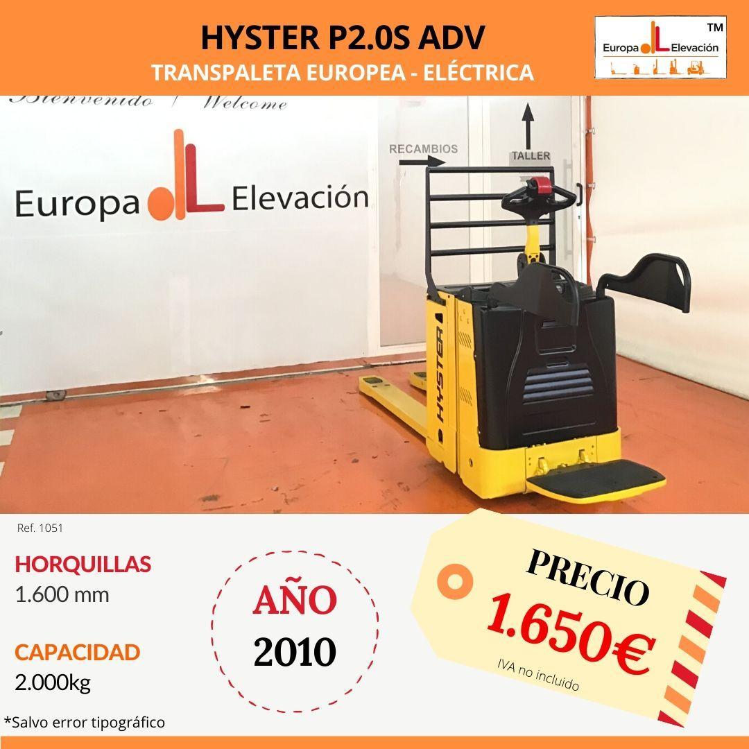 1051 Hyster P2.0S adv Europa Elevación