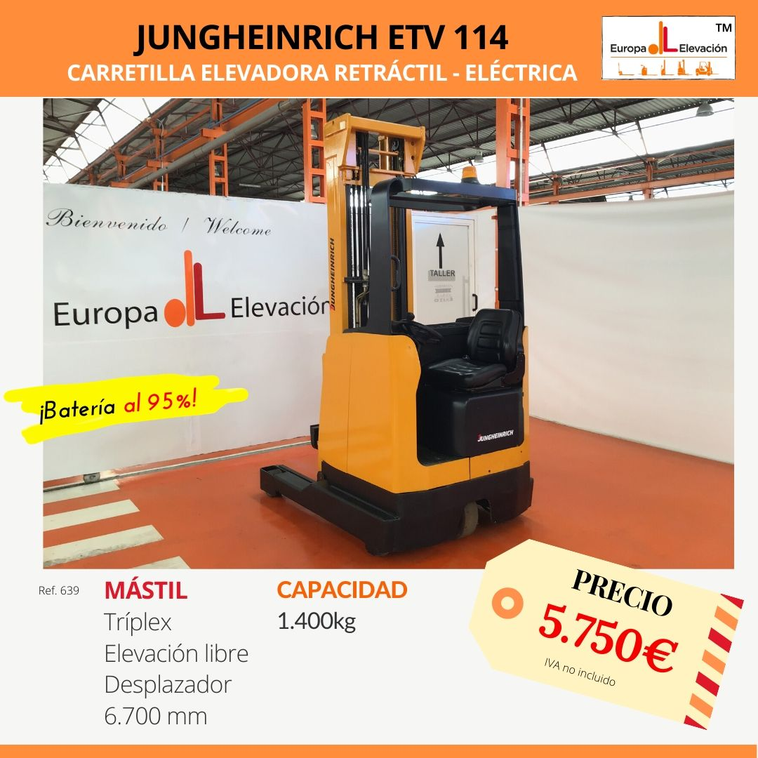 639 Jungheinrich retráctil eléctrica Europa Elevación