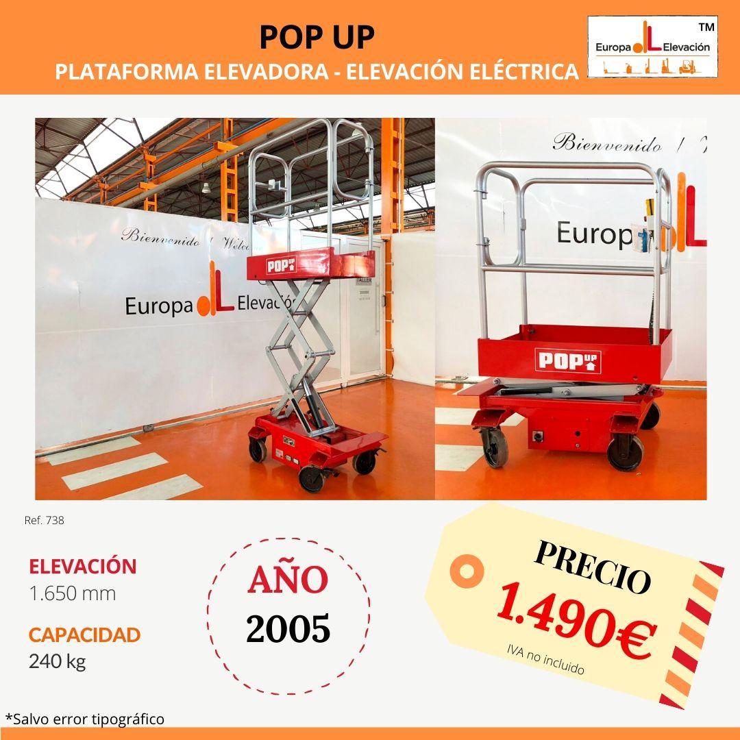 738 Pop Up plataforma elevadora Europa Elevación