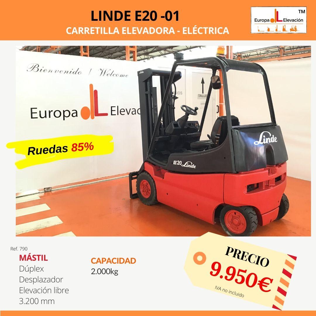 790 Linde E20-01 carretilla elevadora eléctrica Europa Elevación (1)
