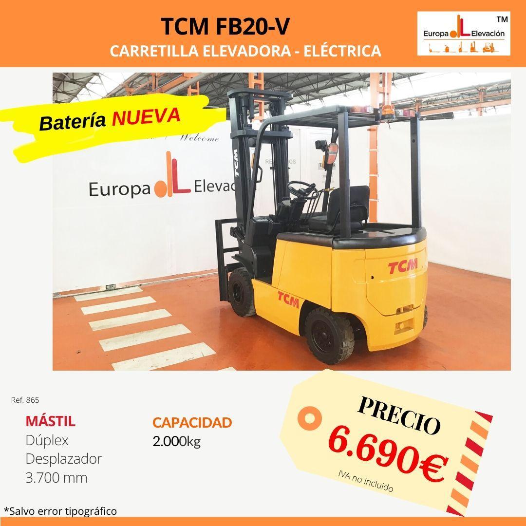 865 TCM FB20-V carretilla elevadora eléctrica Europa Elevación
