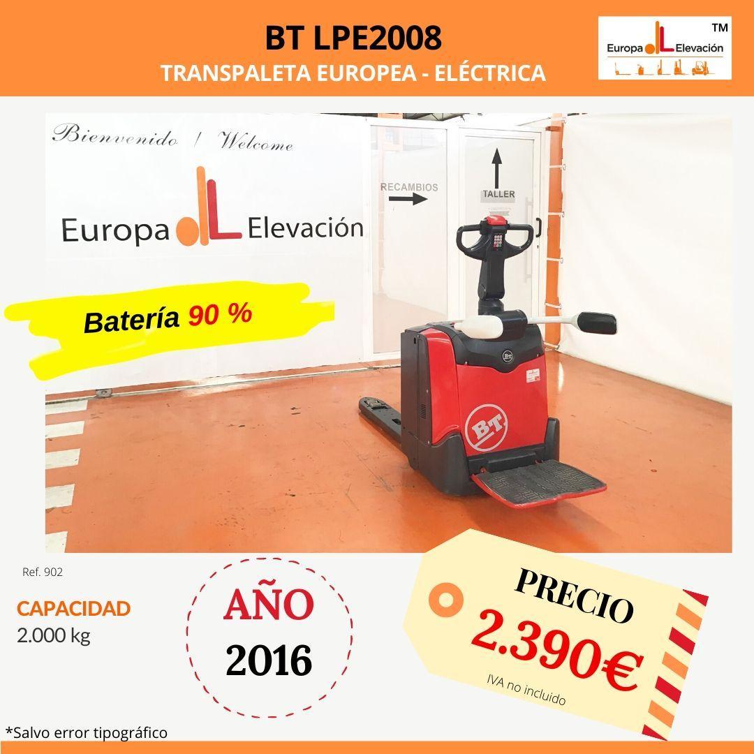 902 BT LPE2008 transpaleta eléctrica Europa Elevación