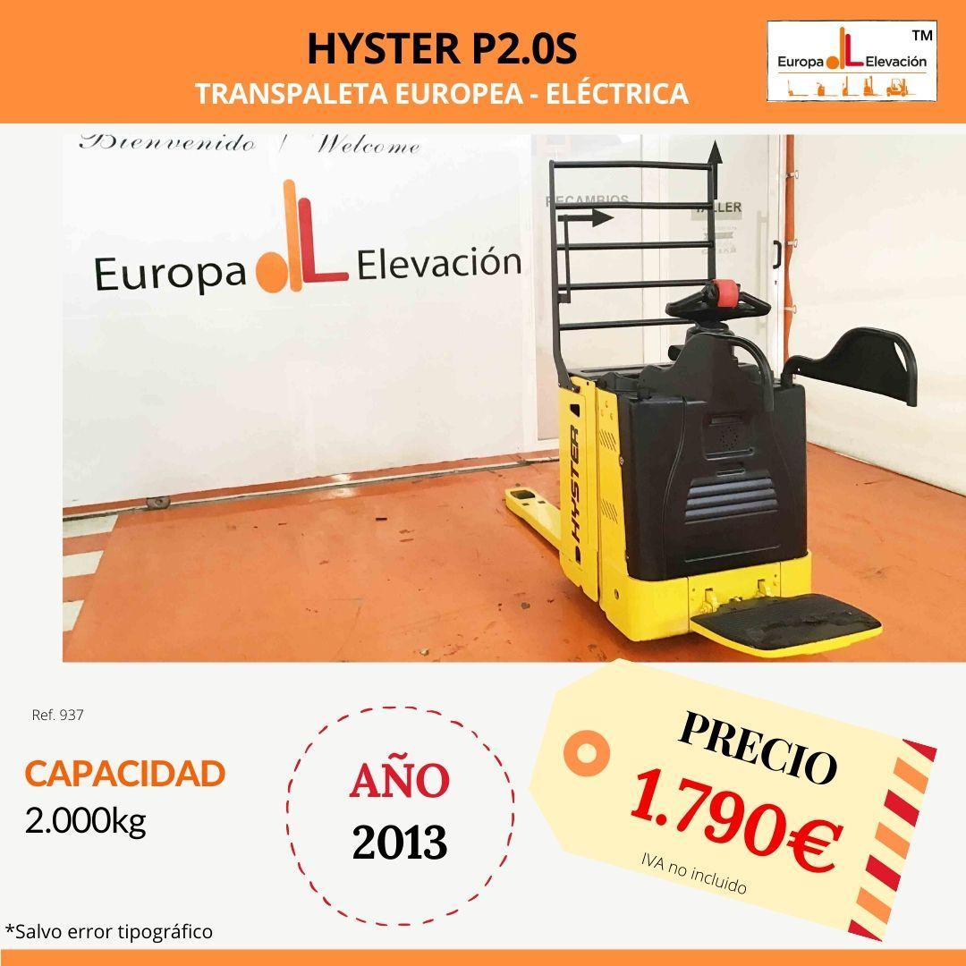 937 hyster Europa Elevación