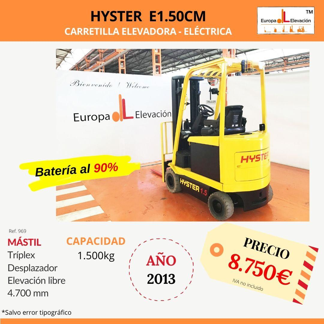 969 Hyster E1.50 CM carretilla elevadora eléctrica Europa Elevación