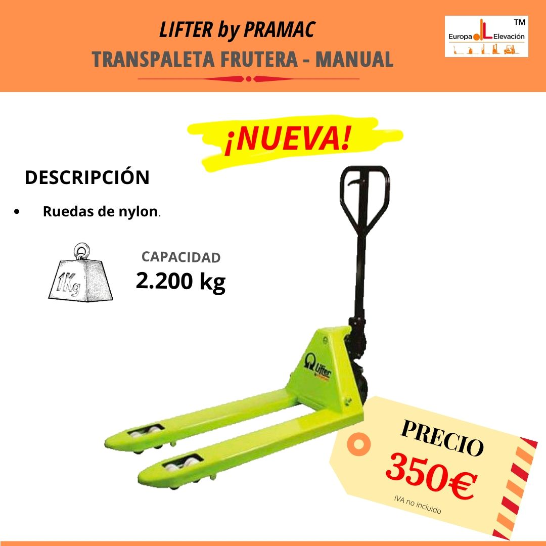 Lifter by Pramac. Manual. 2.200 kg