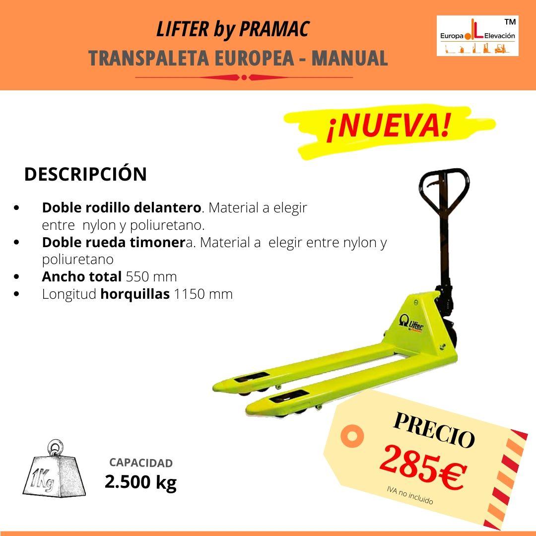 Pramac manual 2.500 Europa Elevación
