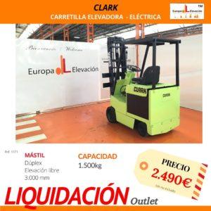 1071 Clark Carretilla elevadora eléctrica Europa Elevación