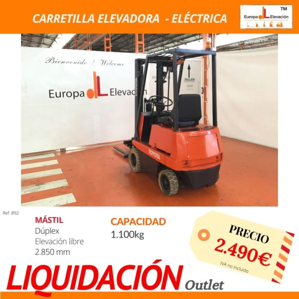 892 Carretilla Elevadora eléctrica Europa Elevación