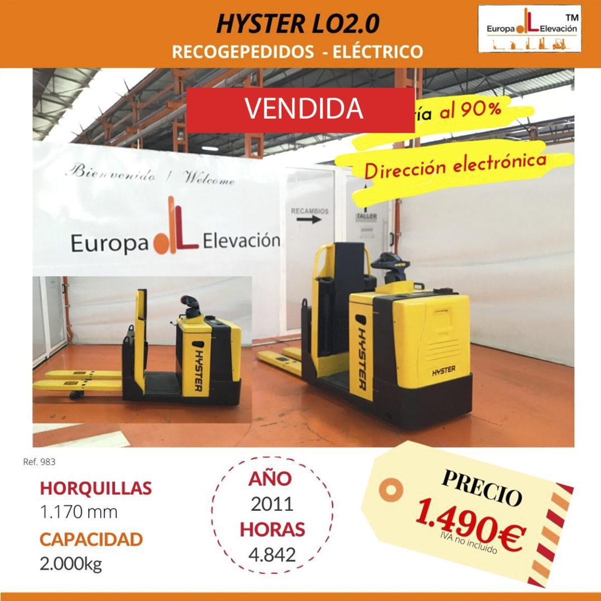 983 Hyster LO 2.0 Recogepedidos (1) VENDIDA