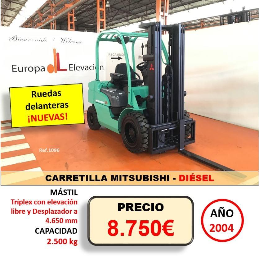 MITSUBISHI CARRETILLA DIÉSEL EUROPA ELEVACION