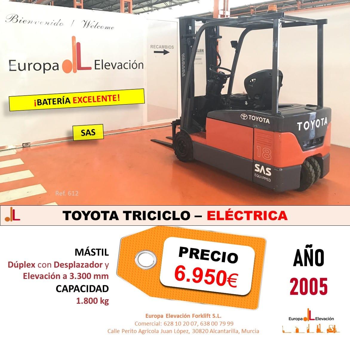 TOYOTA TRICICLO ELÉCTRICA EUROPA ELEVACION