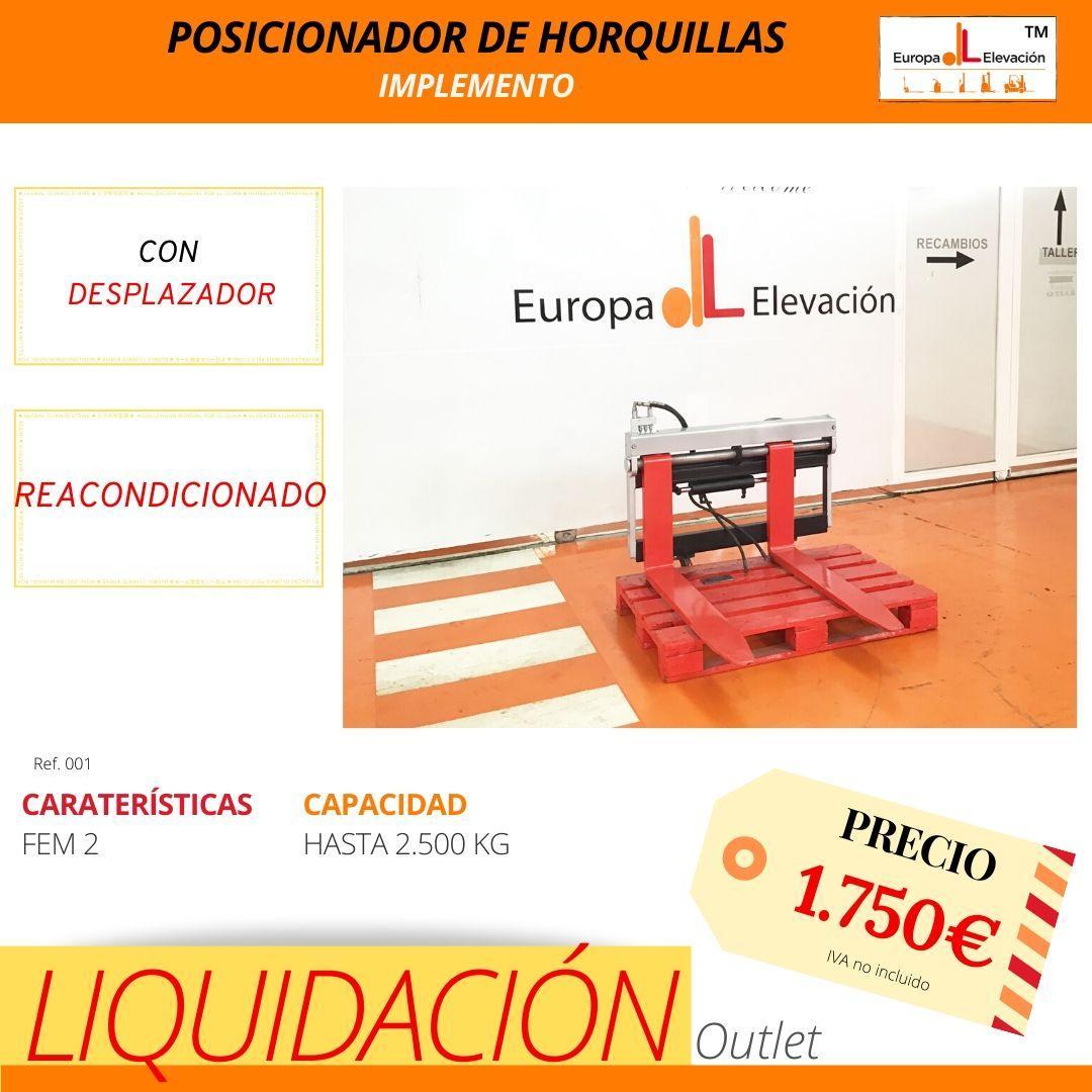 001 Implemento posicionador de horquillas Europa Elevación