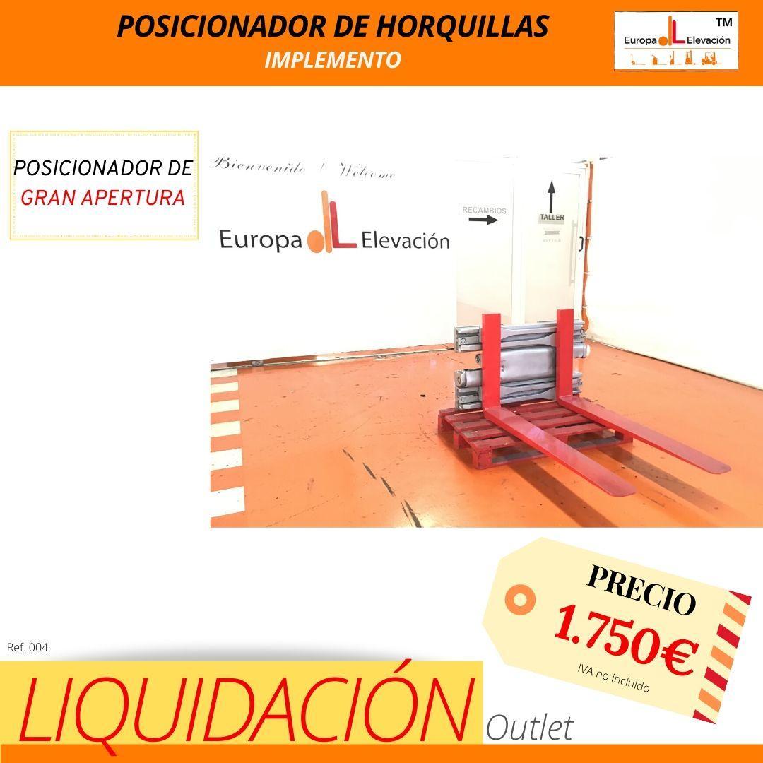 004 Implemento posicionador de horquillas gran apertura - Europa Elevación