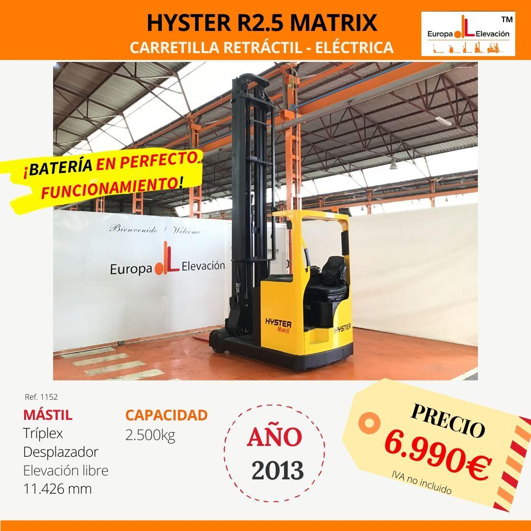 1152 Hyster Matrix Retráctil Europa Elevación