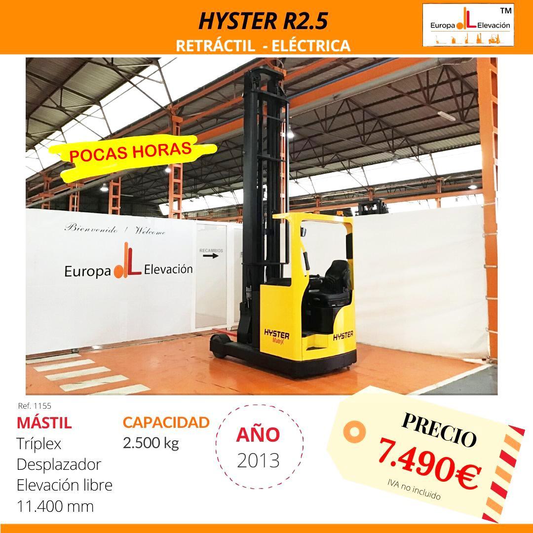 1155 Hyster R2.5 Retráctil eléctrica Europa Elevación