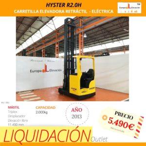 985 Hyster carretilla elevadora retráctil eléctrica Europa Elevación (1)