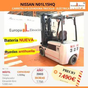 1119 Nissan N01L15HQ Car. elev. elec. Europa Elevación