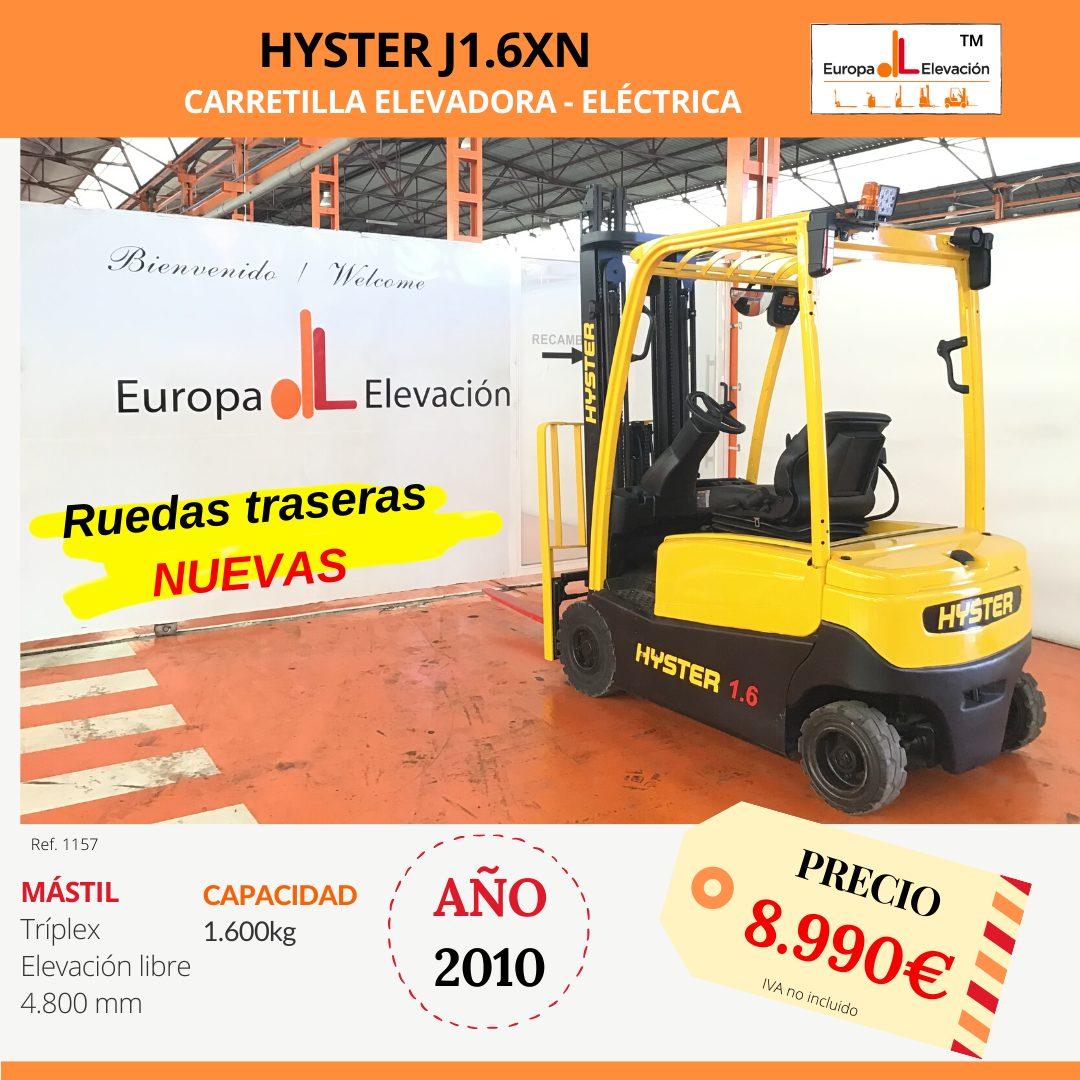 1157 hyster 16 eléctrica Europa Elevación