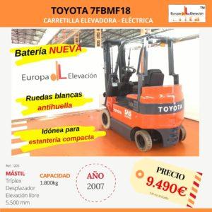 1205 Toyota 7FBMF18 eléctrica Europa Elevación