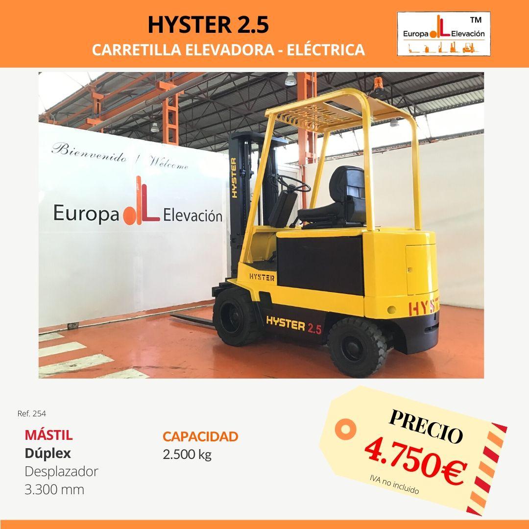 254 Hyster 2.5 Europa Elevación