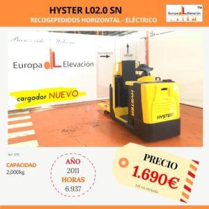979 Hyster recogepedidos eléctrico Europa Elevación