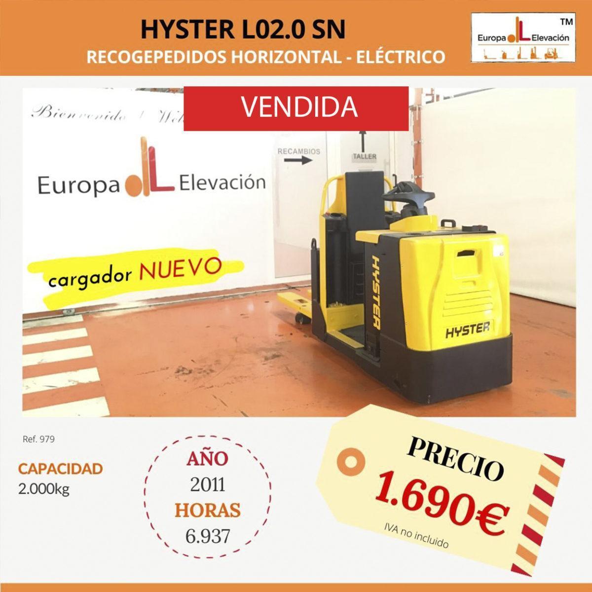 979 Hyster recogepedidos eléctrico Europa Elevación (1) VENDIDA
