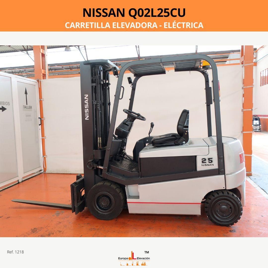 1218 NISSAN Q02L25CU carretilla elevadora Europa Elevación